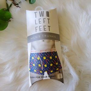 Two Left Feet Chick Magnet Men's Trunks